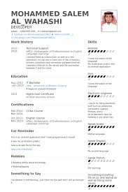 Technical Support Resume samples. Work Experience