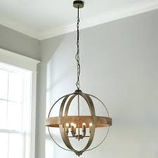 wood and iron chandelier 6 light metal and wood globe chandelier shades of light wood and