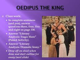 oedipus the king essay format ppt  12 oedipus