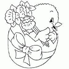 Easter Chick Coloring Page Crafts And Worksheets For Preschool