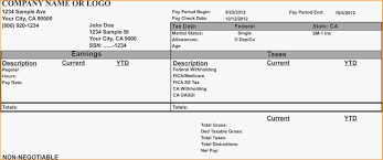 Microsoft Payroll Templates Free Download Company Pay Stub Template Doc 788x1019 Blank
