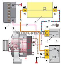 Горит лампочка аккумулятора ВАЗ  Схема подключения аккумулятора ВАЗ 2110