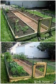 diy u shaped raised garden with fence