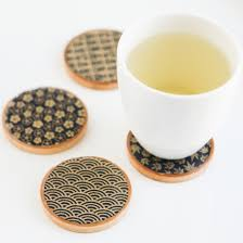 asian teacup coasters  thirsty for tea