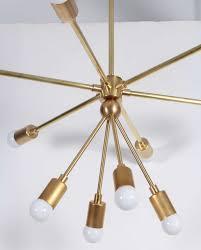 custom macomber modern brass sputnik light fixture 3
