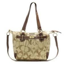 Coach Poppy Op Art Beige Crossbody Handbag