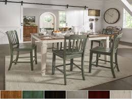 elena antique white extendable counter height dining set slat back for natural wood kitchen table