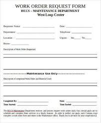 Work Request Form. Work Order Form Template Wevo Inside Work Request ...