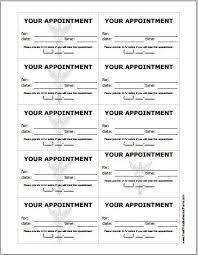Appointment Card Template Appointment Reminder Card Template Free Lovely Patient