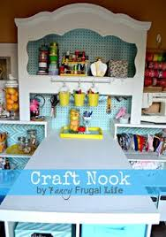 eclectic crafts room. A Headboard Turned Craft Room? You Must See This! Tutorial And Ideas At CraftaholicsAnonymous Eclectic Crafts Room