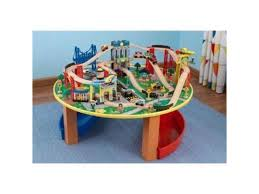 706943179857 kidkraft city explorer wooden train set play table w 80 toy pieces
