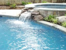... Exterior Design, Modern Pool With Waterfall Home Swimming Pools With  Waterfall: Modern Outdoor Exterior ...