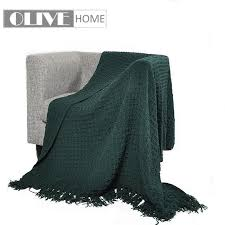 Dark Green Throw Blanket