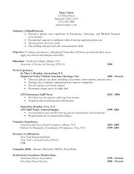 Oncology Nurse Resume Berathen Com