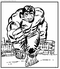 Small Picture The Hulk color page Coloring pages for kids Cartoon characters