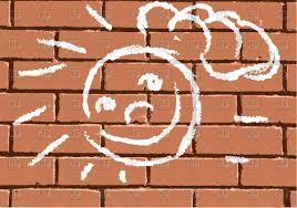 face on brick wall painting with chalk vector image vector artwork of backgrounds textures to zoom