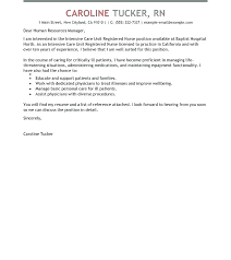 Cover Letter For Nurse Job Cover Letters For Healthcare Jobs Ideas