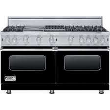 viking gas range. Viking - Freestanding Double Oven Gas Convection Range Black Front_Zoom