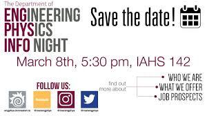 Engineering Physics Information Night! | Department of Engineering ...