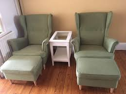 strandmon wing chair green all modern rocking chairs strandmon inside wing chair slipcovers good wing chair