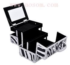 print makeup storage aosom professional mirrored makeup artist cosmetic travel mini case with pull out trays