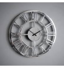 miami wall clock in chrome frame sopha