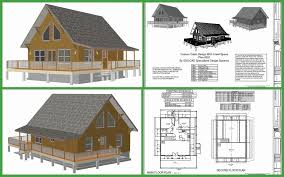 small mountain cabin plans with loft hillside free home sloping lot small mountain cabin plans with