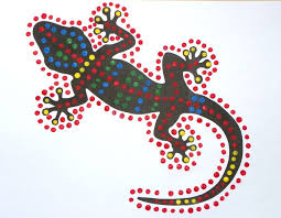 free craft instructions and printable templates for dot painting gecko craft for kids