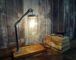etsy industrial lighting. mason jar desk lamp industrial light lighting accent etsy t