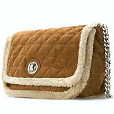 ZARA Sand Suede Leather City Bag Fur Chain Single Strap Quilted ... & ZARA Sand Suede Leather City Bag Fur Chain Single Strap Quilted Brown  8097/304 Adamdwight.com
