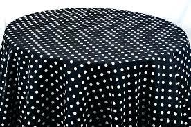 polka dot table linen black and white polka dot tablecloth table cloths decor mechanics round plastic polka dot table linen