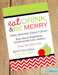 christmas holiday party and dinner invitation card design ideas to fancy christmas celebration invitation card design green white polka dots and red white chevron frame patterns also christmas ball decorations