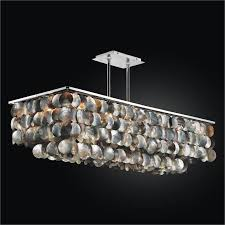 mother of pearl chandelier. Large Rectangular Chandelier With Mother Of Pearl | Montego Bay 633 D