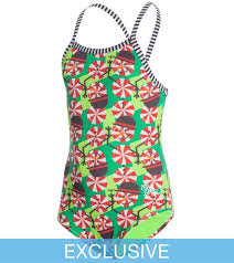 Perfect Dolfin Uglies SwimOutlet Exclusive Girlsu0027 Peppermint Patty One Piece  Swimsuit 8146072
