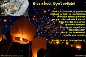 sky lantern not a balloon but equally dangerous