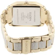 elgin men s crystal accented watch and matching bracelet gold elgin men s crystal accented watch and matching bracelet gold walmart com