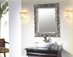 decorative bathroom mirror. Decorative Bathroom Mirrors Silver Mirror C
