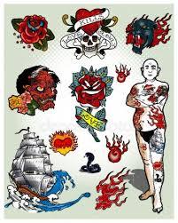 Srdce Tetování Stock Vektory Royalty Free Srdce Tetování Ilustrace