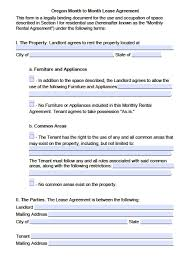 Download a free printable lease/rental agreement form: Free Oregon Rental Lease Agreement Templates Pdf Word Doc