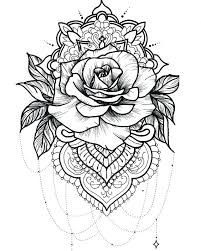rose mandala coloring pages tattoo idea art inspiring ideas free roses valentine and hearts forget me