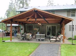 style open gable patio cover plans
