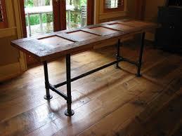 furniture made from doors. Kitchen Table - Industrial Pipe \u0026 Wood Door Custom Made Frame Tables And Desks By Wesley Ellen Design Millwork. Www.wesleyellen.ca Furniture From Doors