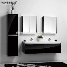 elegant black bathroom vanity for your bathroom design high gloss black finish bathroom vanity