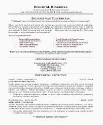 Apprentice Electrician Resume New Master Electrician Cover Letters