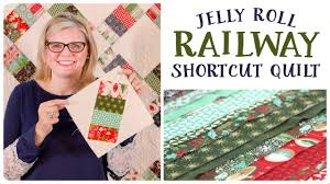 Jelly Roll Railway Shortcut Quilt - Fat Quarter Shop - YouTube & Jelly Roll Railway Shortcut Quilt - Fat Quarter Shop Adamdwight.com