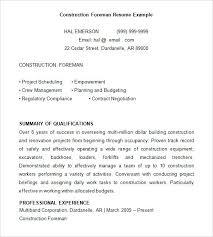 Civil Service Resume Templates Best of Civil Service Resume Format Construction Resume Template 24 Free