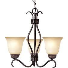 basix 3 light oil rubbed bronze mini chandelier