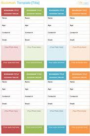 Free Bookmark Templates Free Printable Bookmark Template For Word Dotxes