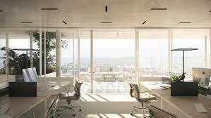 building an office. NL*A Reveals Plans For Open-Concept Green Office Building In France,Courtesy An