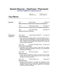 Pharmacy Technician Resume Pharmacist Cv Example Pharmacy Technician Resume Template Hospital 57